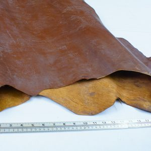 Brown leather top grain