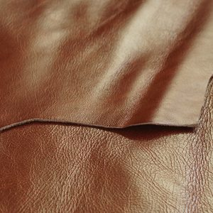mahogany brown leather hide