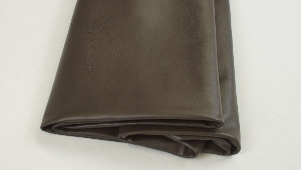 mocha brown leather hide