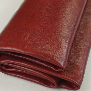 Crimson red leather