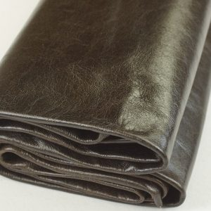 midnight brown leather hide