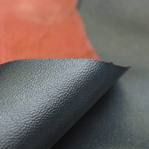 textured navy lambskin