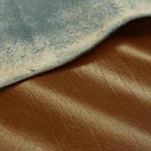brown cow split leather