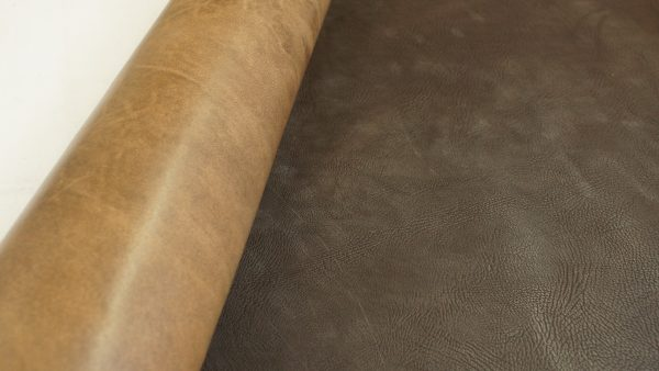 Brown leather full hide
