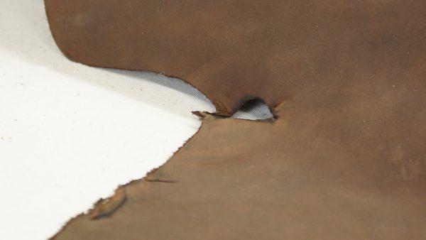 nutmeg brown leather chunk