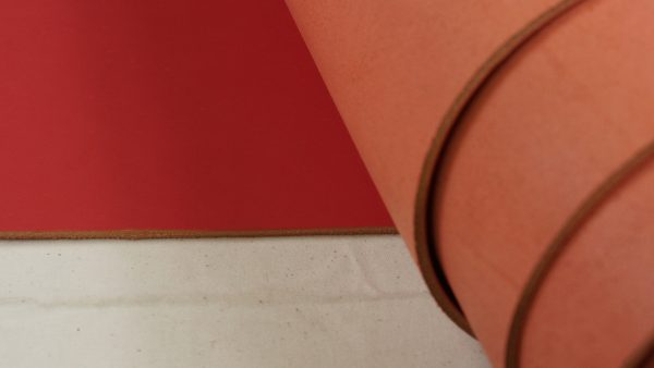 light pink belting leather