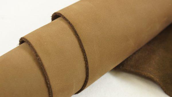 side chunk brown nutmeg leather
